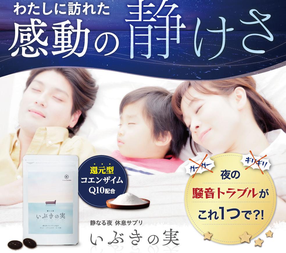 いびきや睡眠時無呼吸症候群を軽減するサプリ!いぶきの実