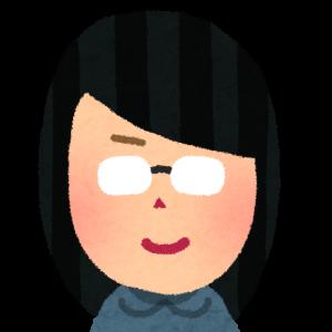 めがねをかけた女性